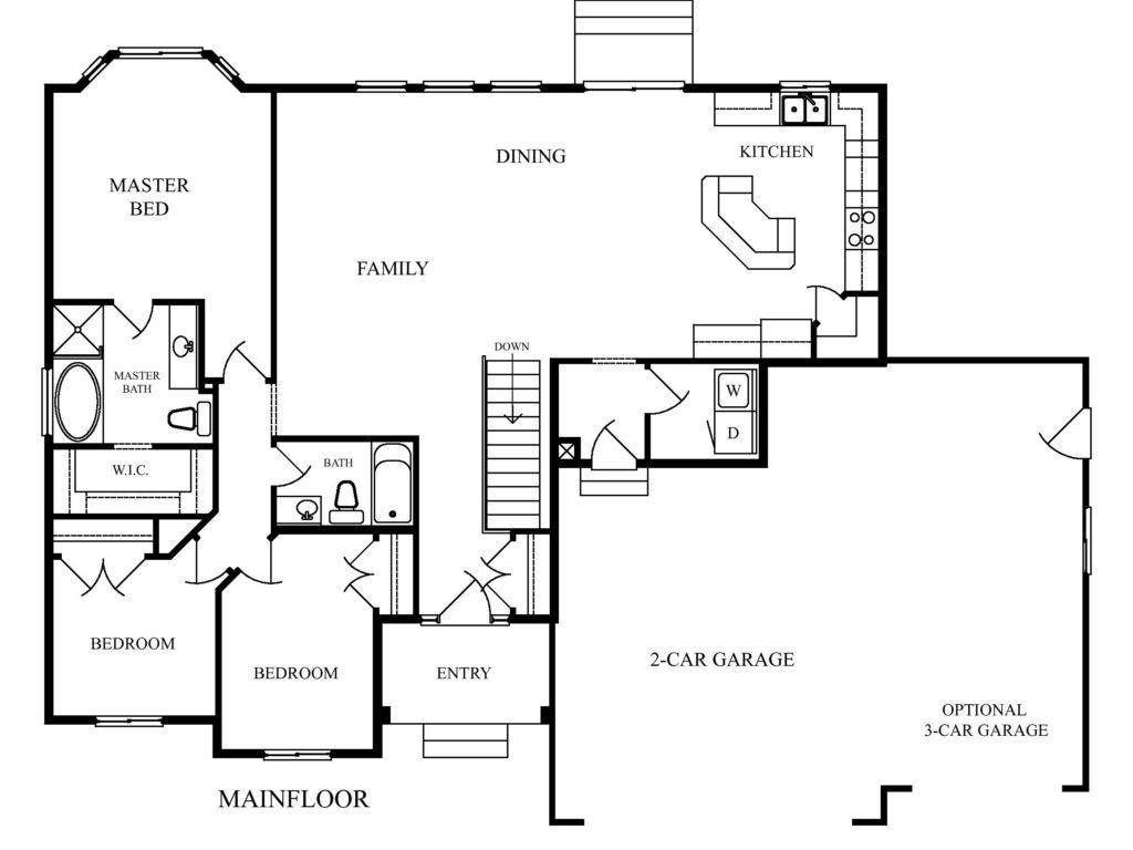 Rushmore main floor copper creek homes for Copper creek homes floor plans